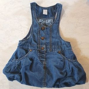 Size 3 overall style denim dress